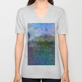 The Hill - Abstract Modern colourful Unisex V-Neck