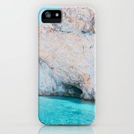 Sea Caves in Mallorca Spain iPhone Case