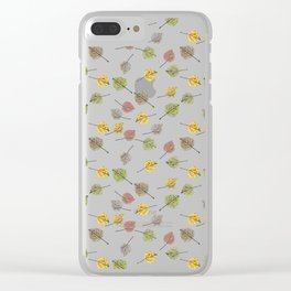 Colorado Aspen Tree Leaves Hand-painted Watercolors in Golden Autumn Shades on Clear Clear iPhone Case