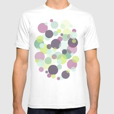 Candy Dots Mens Fitted Tee White MEDIUM