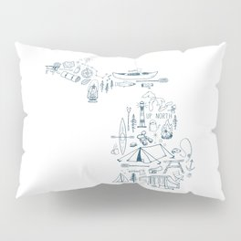Michigan Up North Collage Pillow Sham