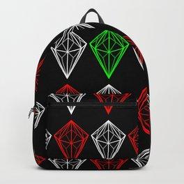 Diamonds Rubies and sapphire Backpack