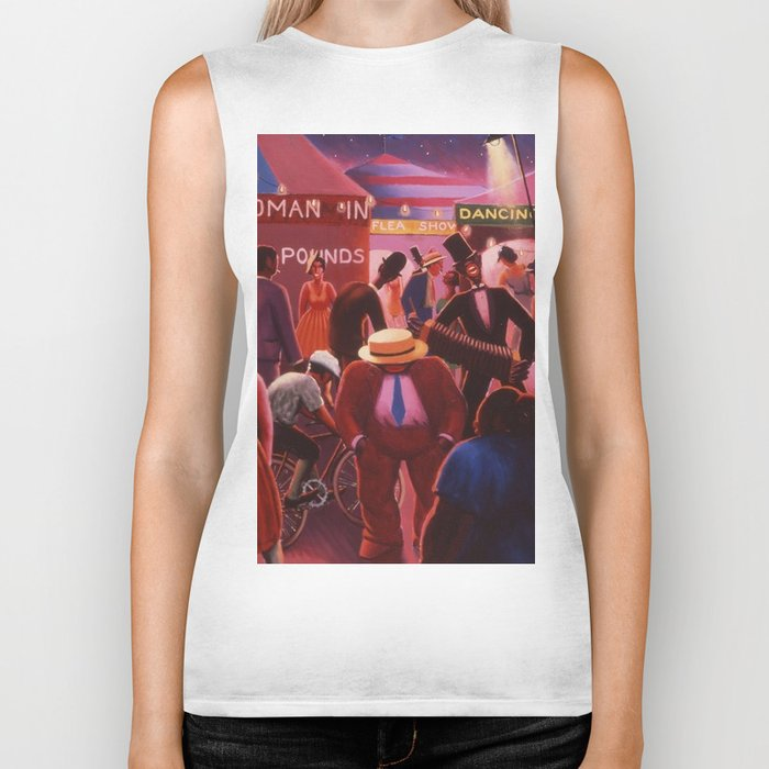 Another View of America by Archibald Motley Biker Tank