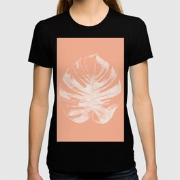 Orange Monstera Leaf T-shirt