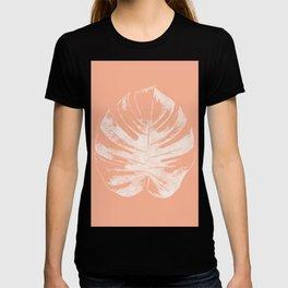 Orange Monstera Leaf T-shirt