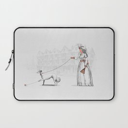 Walking The Dog Laptop Sleeve