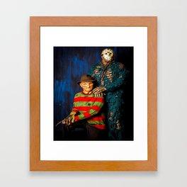 Freddy & Jason Potrait Framed Art Print