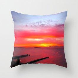 Cannes La Bocca Sunset Throw Pillow