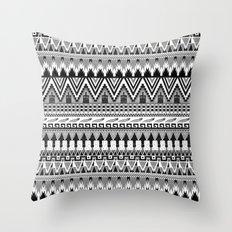 WHISKY AZTEC B/W  Throw Pillow