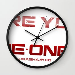 Are you One-One-6 White Wall Clock