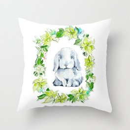 Bunny Baby Throw Pillow