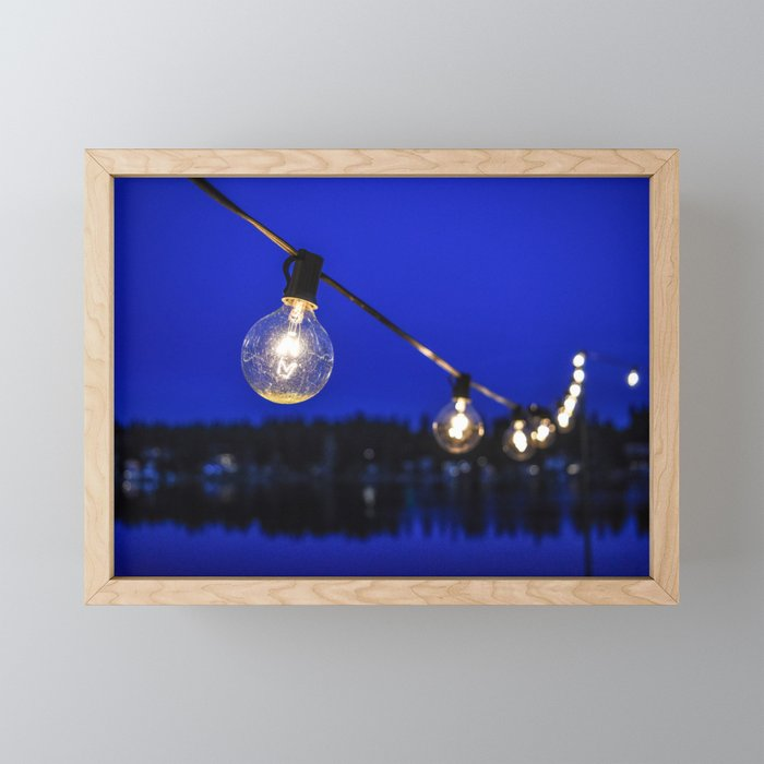 String of Lights Framed Mini Art Print