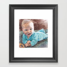 Tummy Time Framed Art Print