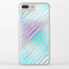 Pastel Tiger Stripes Clear iPhone Case
