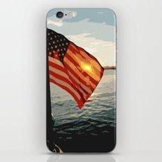Patriot's Sunset iPhone & iPod Skin