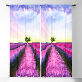 Lavender Fields on Sunday Blackout Curtain