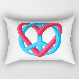 Peace + Love Rectangular Pillow