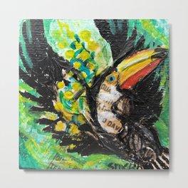 Toucan in flight Metal Print