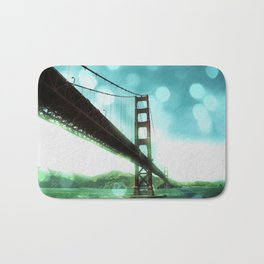 Green Bokeh Golden Gate Bridge in San Francisco Bath Mat
