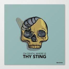 Death where is thy sting Canvas Print