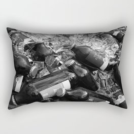Ice cold stubbies in a canoe, Ottawa, Canada. Rectangular Pillow