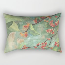 Bittersweet Berries Leaves and Branch Rectangular Pillow