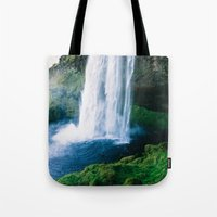 waterfall Tote Bags featuring Waterfall by StayWild