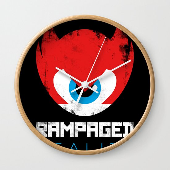 Rampaged Reality Wall Clock