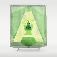 alien Shower Curtains featuring Alien by Mr and Mrs Quirynen