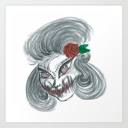 Deadly beautiful Art Print