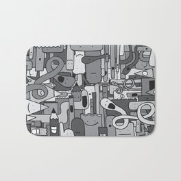 Pile de Monstres - Black/White Bath Mat