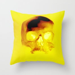 Yellow Skull Throw Pillow
