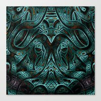 viking Canvas Prints featuring Viking by RingWaveArt