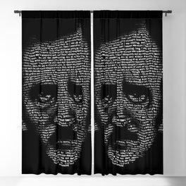Edgar Allan Poe Nevermore Portrait Blackout Curtain