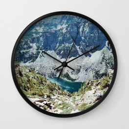Blue lake Wall Clock