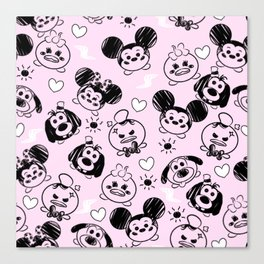 Scribble Tsums Canvas Print
