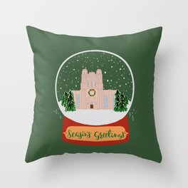 Christmas in Saginaw- Water Treatment Plant Throw Pillow