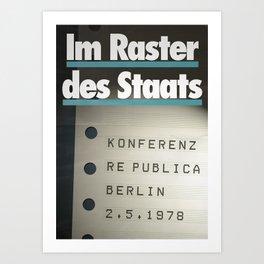 re:trospektive 1978: Im Raster des Staats Art Print