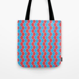 Blue red lozenges Tote Bag