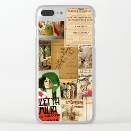 Vintage Opera Clear iPhone Case