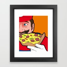 The secret Life of Heroes - MarioFood Framed Art Print