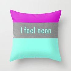 Concrete & Neon Throw Pillow