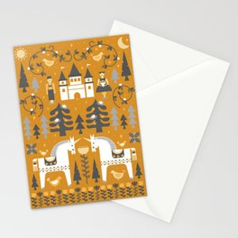 Yellow + Gray Fairy Tale Stationery Cards