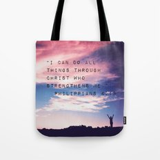 Philippians 4:13 in Nature Tote Bag