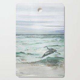 Anna Maria Island Florida Seascape with Heron Cutting Board