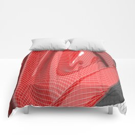 Red waving mathematical surface Comforters