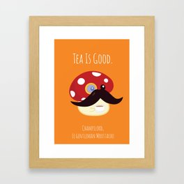 Champilord the gentleman with moustache Framed Art Print