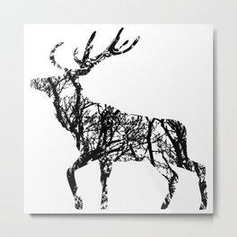 Deer in the forest Metal Print