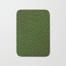 Gold Lowpoly in Green Background Badematte