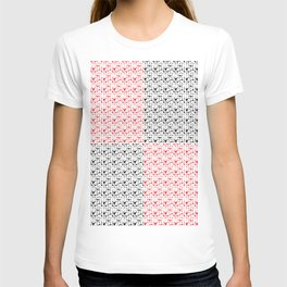 Imperfect Hearts Checkerboard Pattern- Red/Black/WHITE T-shirt